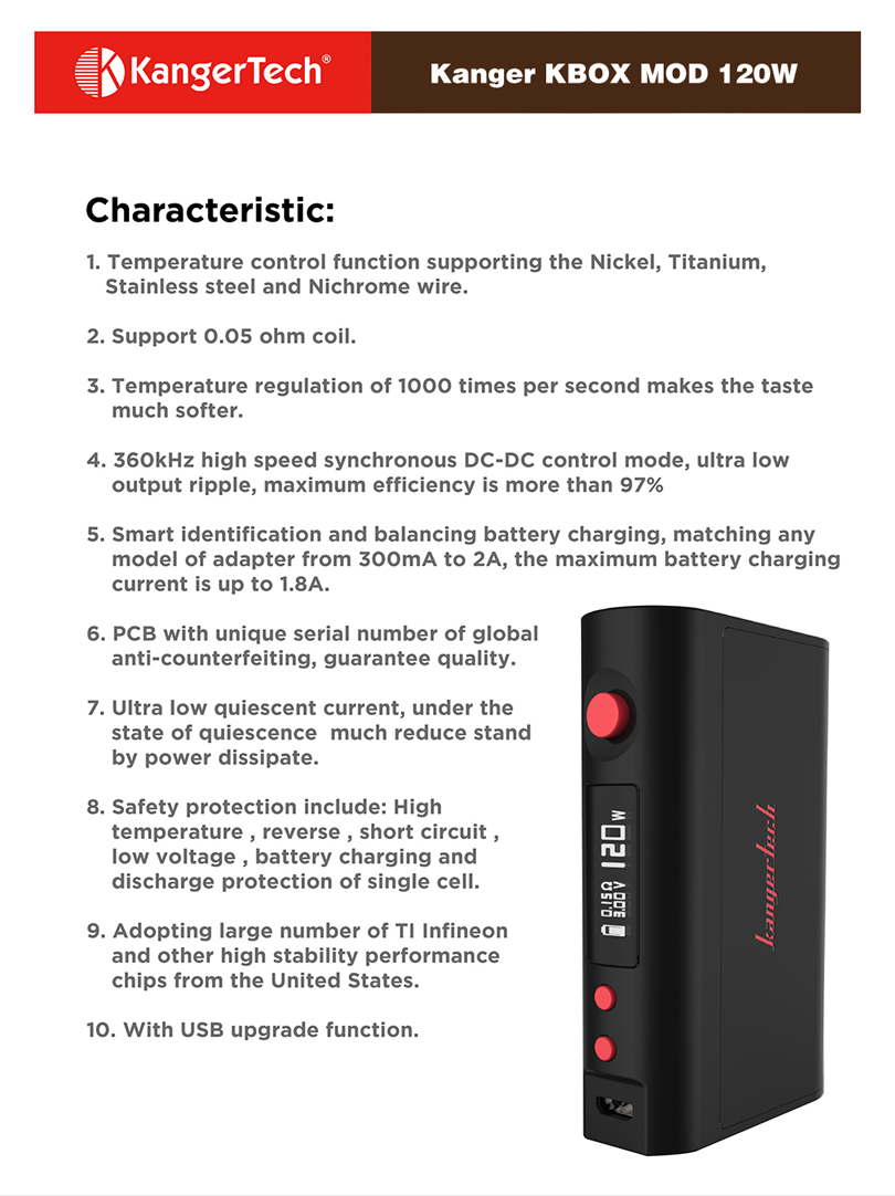 Kbox Mod 120W Features