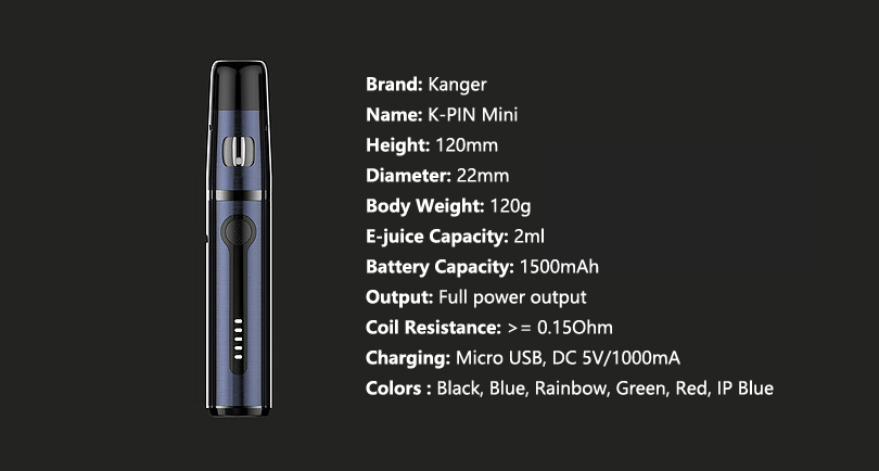 Parameters of K-Pin Mini Kit