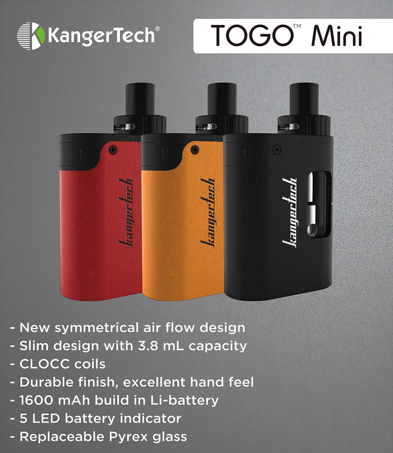 Kanger TOGO Mini Starter Kit Features