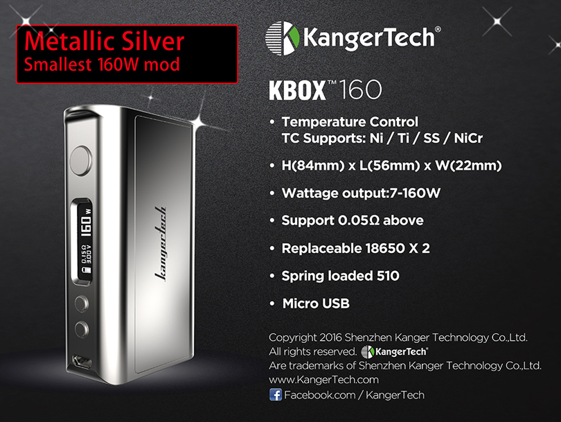 Kanger Kbox 160W Features