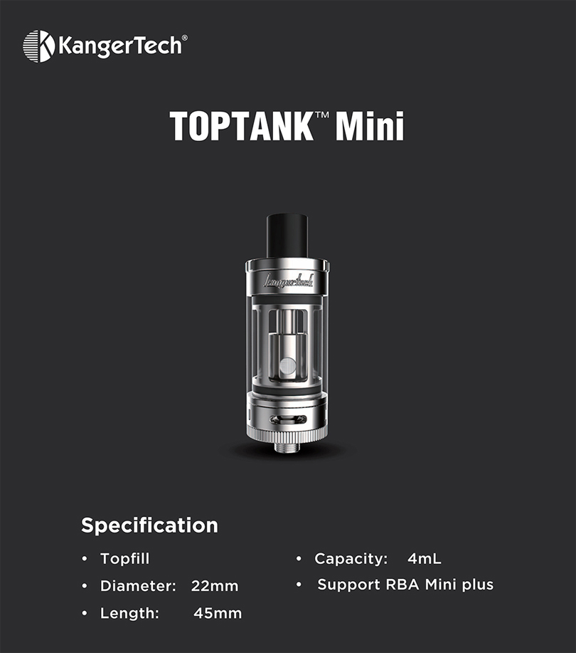 kanger toptank mini feature